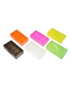 Armerah 18650/16340/CR123A eCig Battery Protective Case Opaque Plastic Available Colours