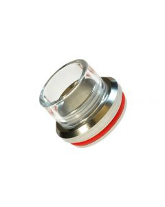 Armerah 28.5mm RDA Top Cap e-cig Mouthpiece Glass/Stainless Super Wide Bore
