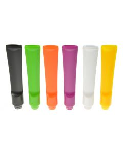 Armerah Pipe Stem Flat 510 Drip Tip eCig Mouthpiece Long/Narrow PVC/Straight Available Colours