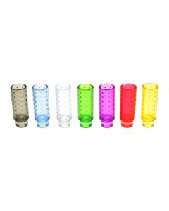 510 Drip Tip e-cig Mouthpiece Tall/Plastic/Opaque - Available Colours