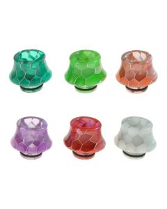 Armerah Snakeskin Cone 510 Drip Tip eCig Mouthpiece Short/Medium Epoxy Resin Available Colours