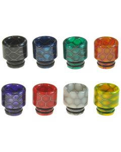 Armerah Snakeskin Mini 510 Drip Tip eCig Mouthpiece Short/Medium Epoxy Resin Available Colours