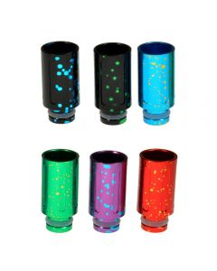 Armerah Fleck 510 Drip Tip e-cig Mouthpiece Short/Aluminium/Splash Available Colours