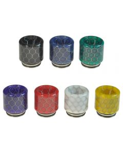 Armerah Anti Spit Back Snakeskin 810 Drip Tip eCig Mouthpiece Wide Bore Resin/Steel Available Colours